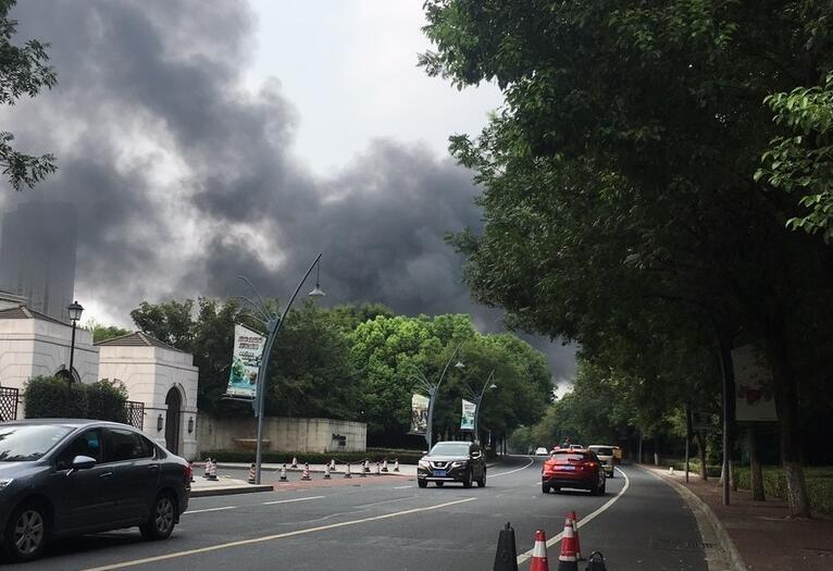 常州中华恐龙园发生火灾1
